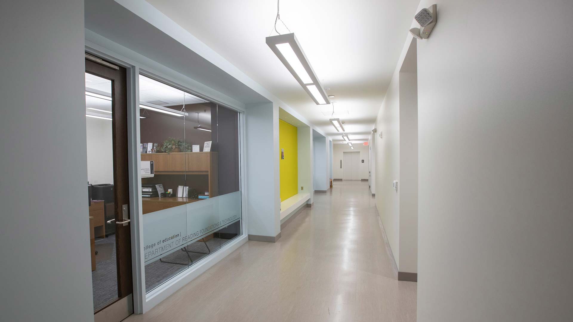 Hallway outside the department of reading, foundations and technology