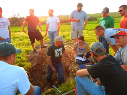 Evaluating a potential vineyard site at Mountain Grove