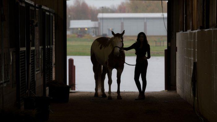 C.J. Volckmann and a horse