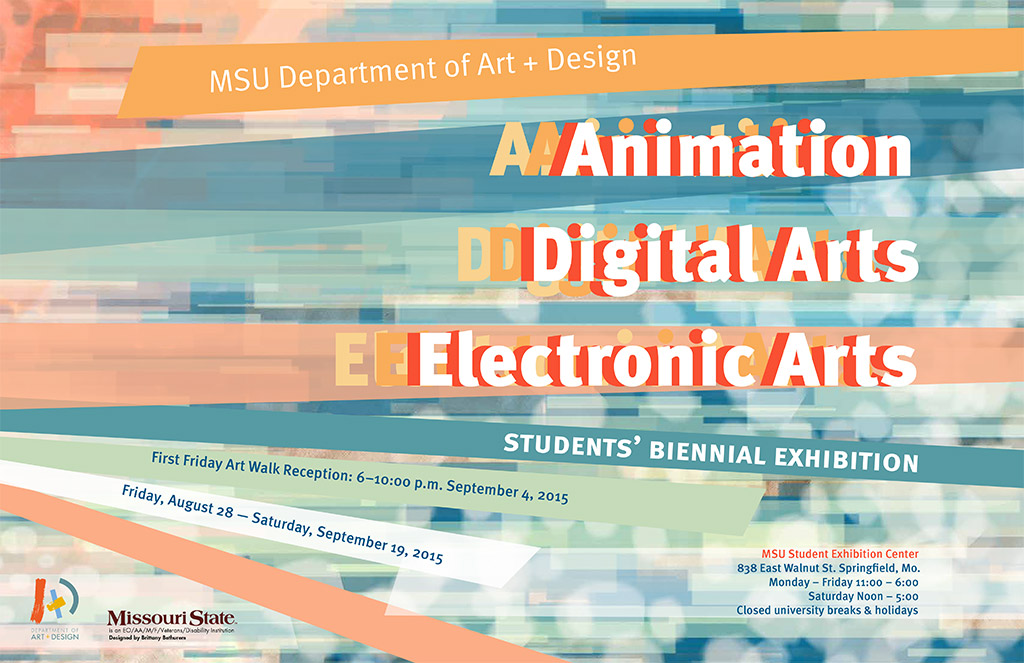 Animation, Digital Arts, and Electronic Arts Student exhibition