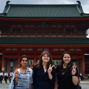 Students on study away trip to Japan