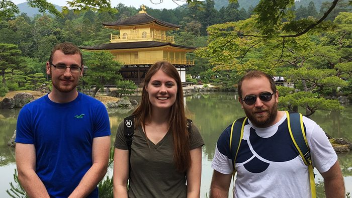Students studying away in Japan