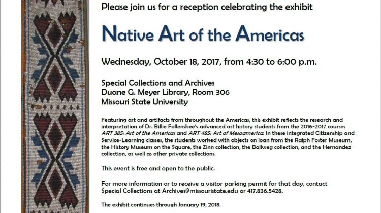 Native American Exhibit to Open in Meyer Library