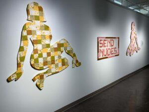 Quilted pieces by McKenzie Phelps.