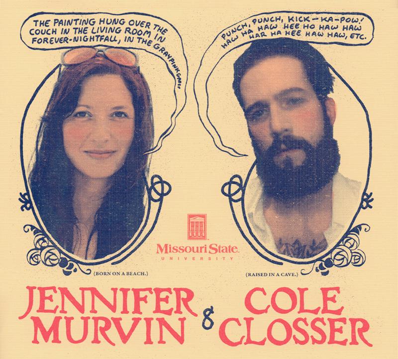 Professors of Graphic Narrative: Jen Murvin and Cole Closser.