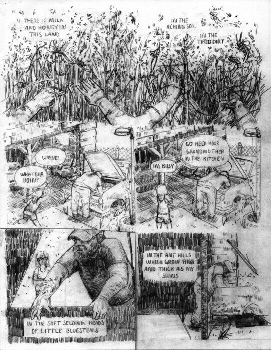 Comic by Jupiter Kieschnick.