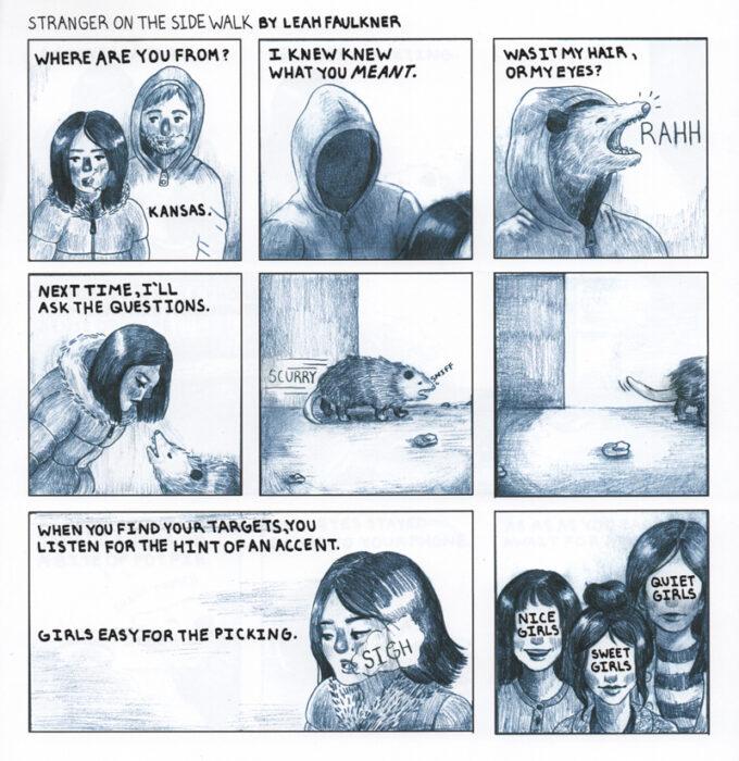 Comic by Leah Faulkner.
