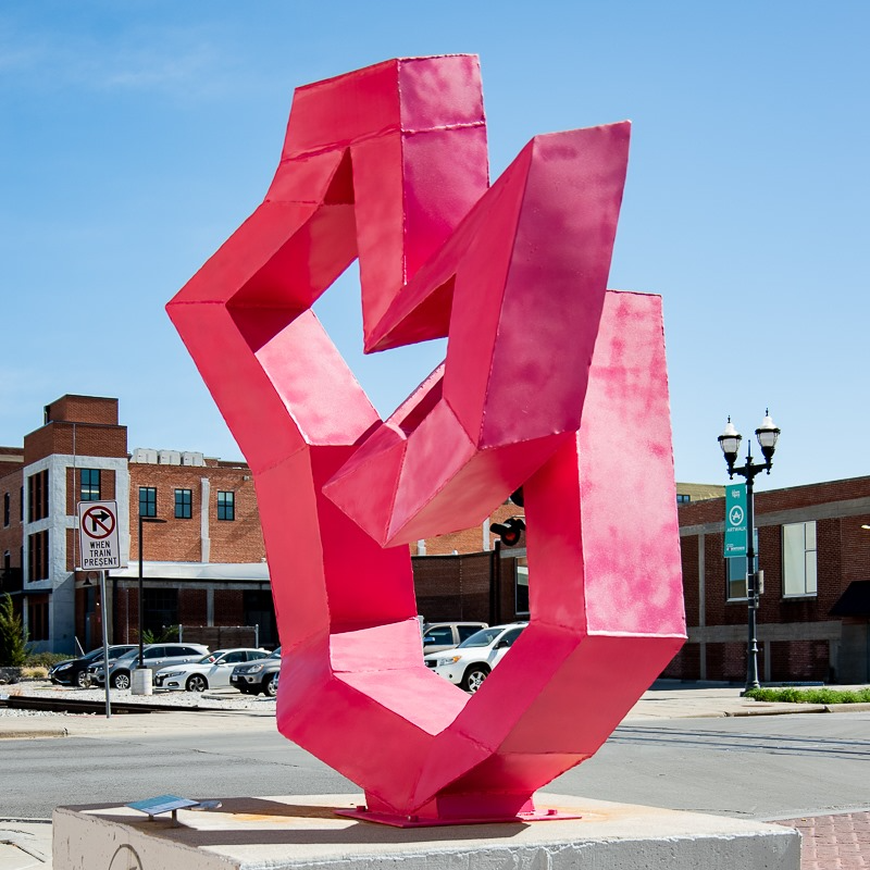 Photo of an abstract metal sculpture (Photo Credit: Sculpture Walk Springfield)