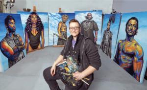 rae with artwork