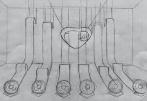 "An original sketch of ""Moonment"""