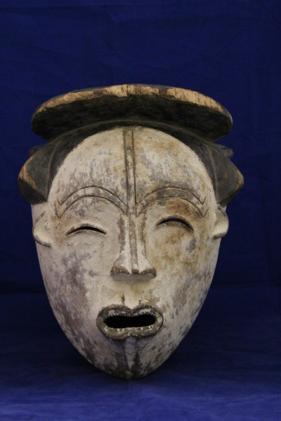 Ngil Mask Fang culture 20th century Wood and pigment, L. 23 cm x W. 16 cm x H. 27 cm Mace collection #TH029