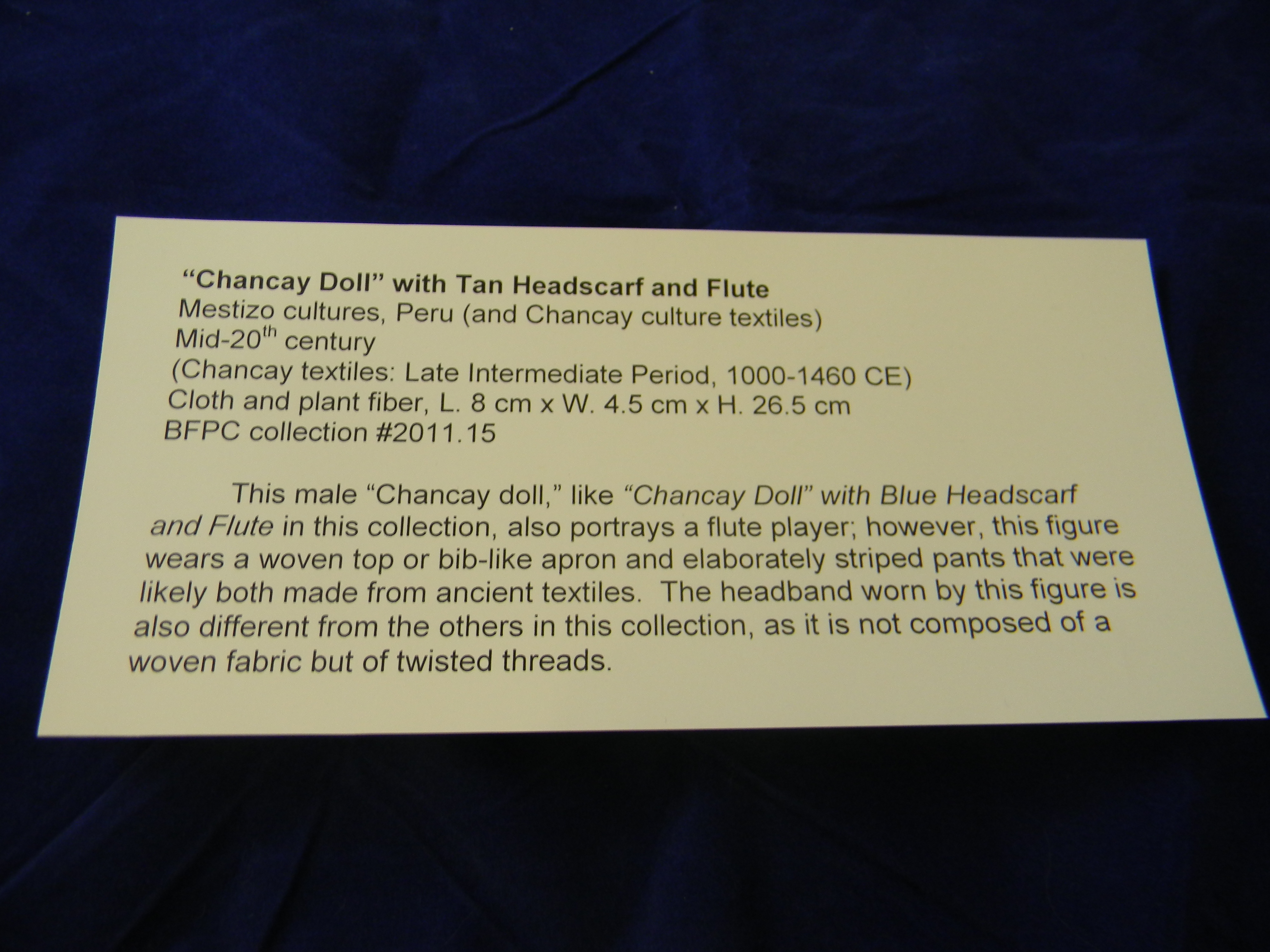 Chancay Dolls, Researched by Angela Burgon