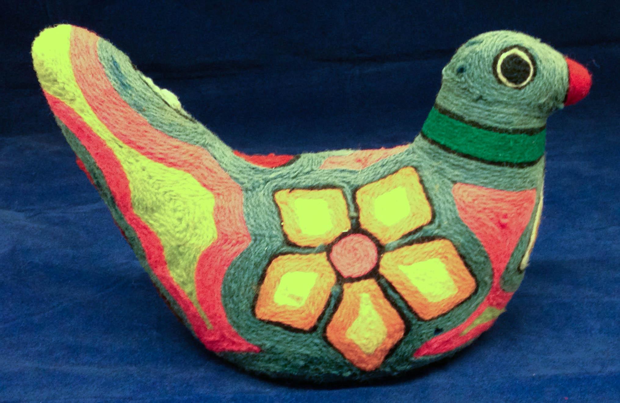 Huichol Yarn Bird, Researched by Joakima Day