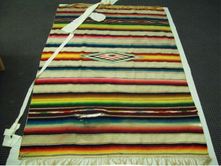 Large Striped Serape, Researched and Conserved by Ashley Sayers