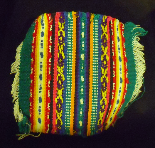 Small Cloth Sample with Multi-colored Bands from Sololá, Guatemala, Researched by Joshua Jones