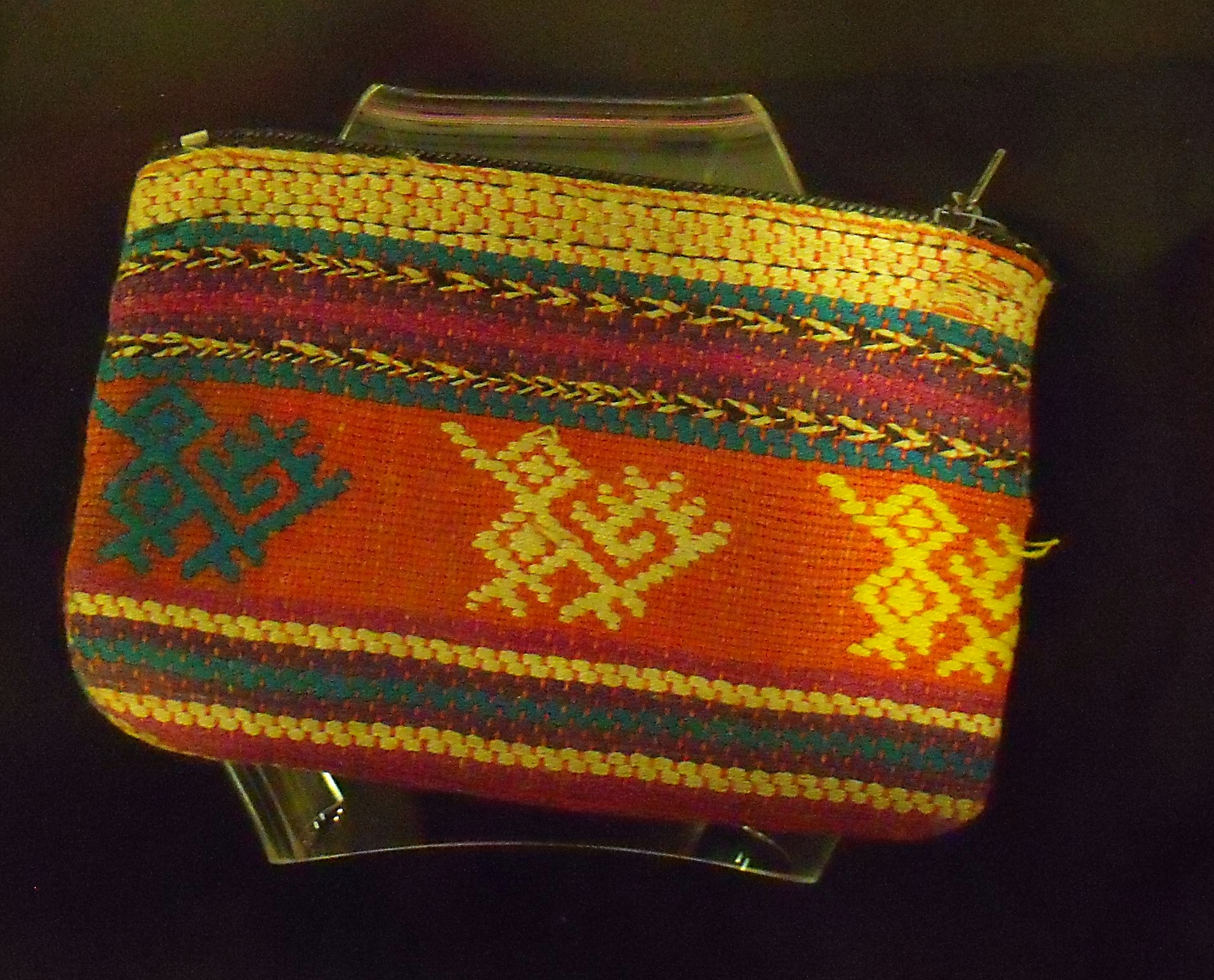 Purse of Hand-Woven Cloth with Embroidery, Researched by Stephenie Walker