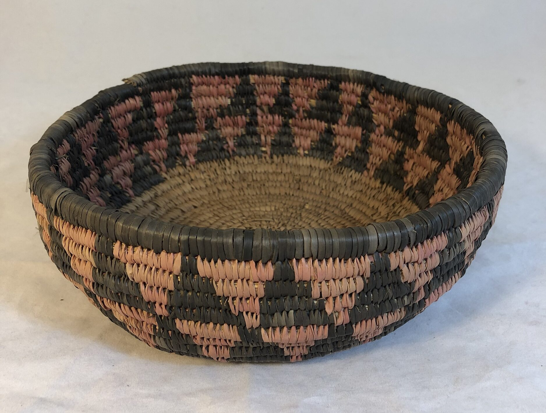 Image of Red and Black Triangle Pattern Basket