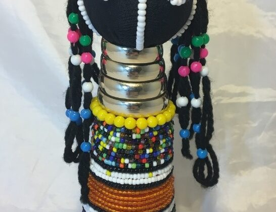 Image of Beaded Figurine of a Girl