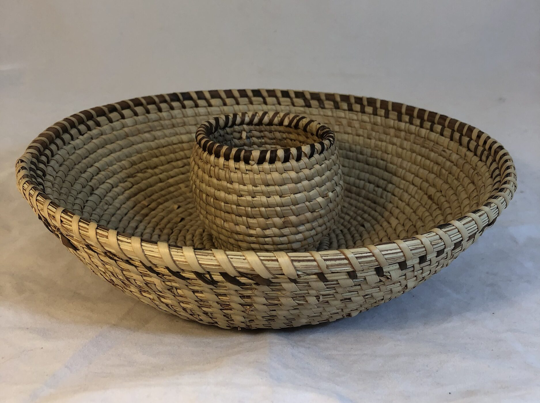 Image of Basket with Center Bowl