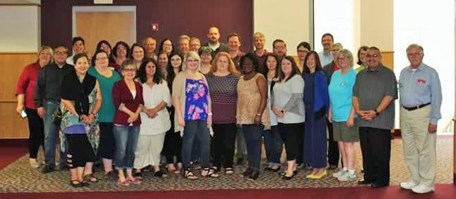 Faculty and Staff join together for Annual Assessment Workshop group photo