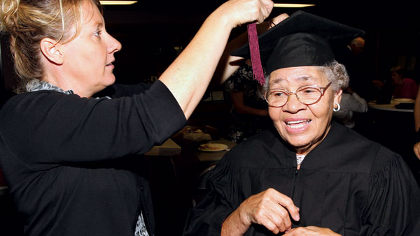 University's first black applicant, denied admission in 1950, receives honorary degree