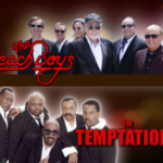 The Beach Boys and The Temptations concert poster