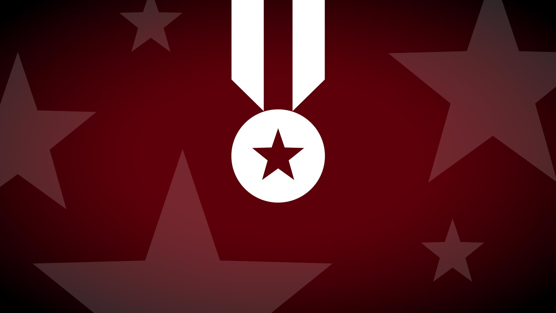 Medal illustration on a star background