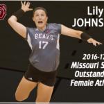 Lily Johnson 2016-17 Missouri State Outstanding female athlete