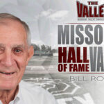 Graphic of Bill Rowe with text Missouri Valley Hall of Fame