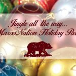 Jingle all the way...MarooNation Holiday Party graphic with ornaments