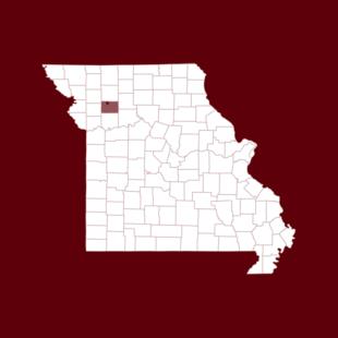 Map of Hamilton, Missouri