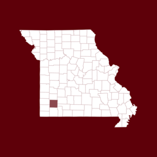 Map of Lawrence county in Missouri