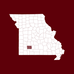 Map of Stafford county in Missouri