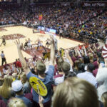 fans cheering at JQH arena