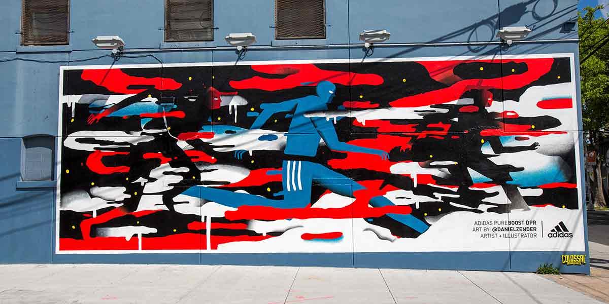Daniel Zender's wall mural for Adidas.