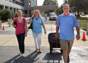 Parents helping with move-in