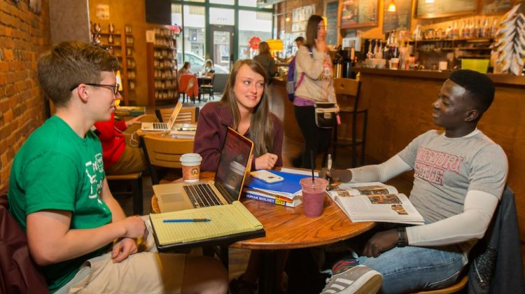 Missouri State students at a coffee shop
