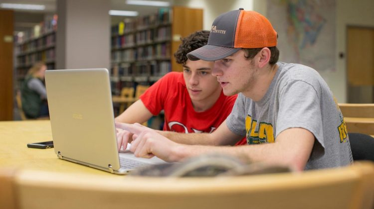 Students study at Meyer Library