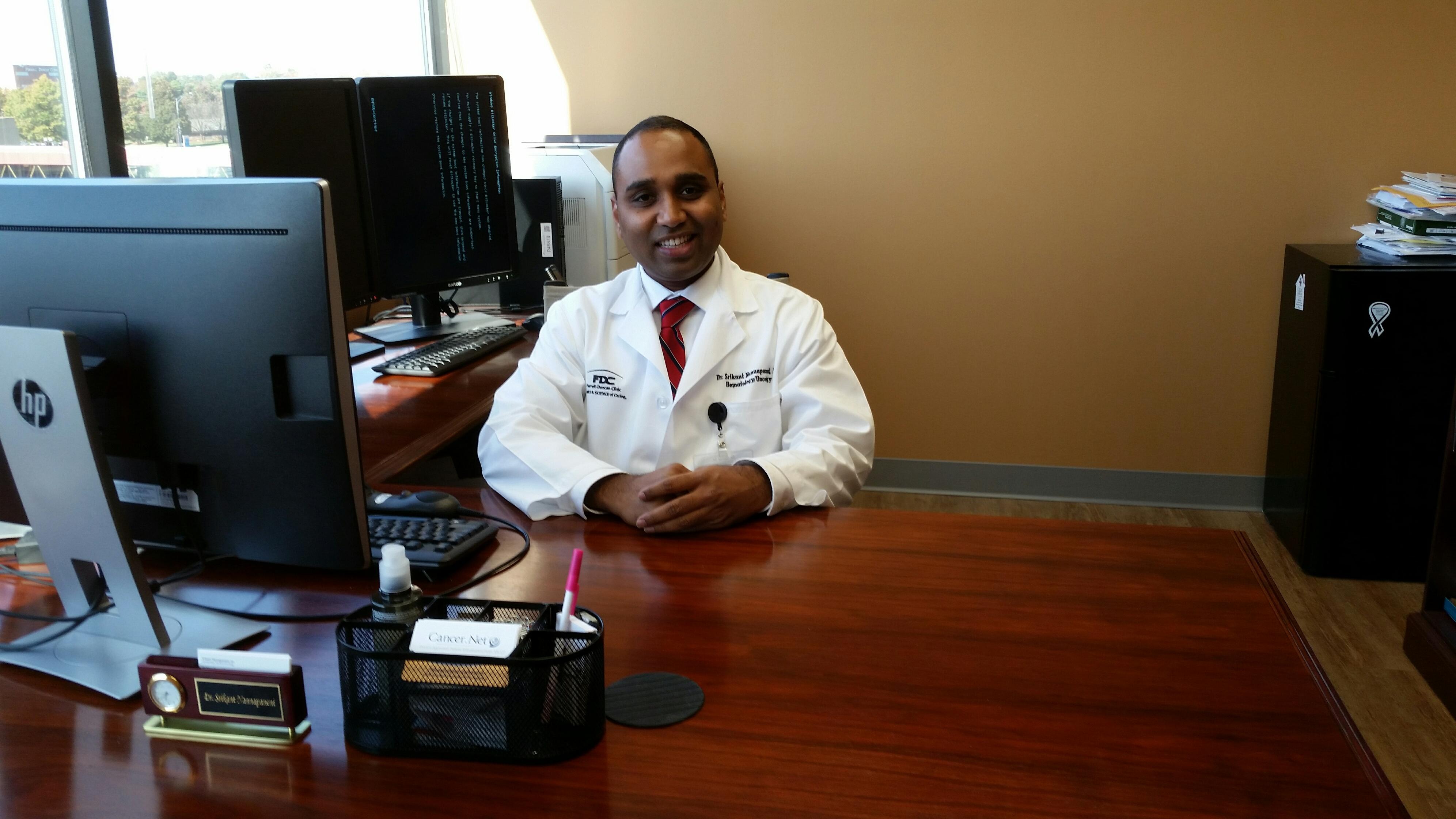 Nannapaneni in his office