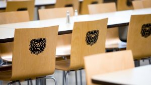 Chairs with Bear logo