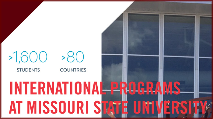 Sample of brochure created by Missouri State's international services