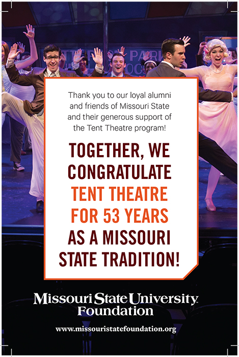 Inspiration: Missouri State Foundation's ad in Tent Theatre brochure