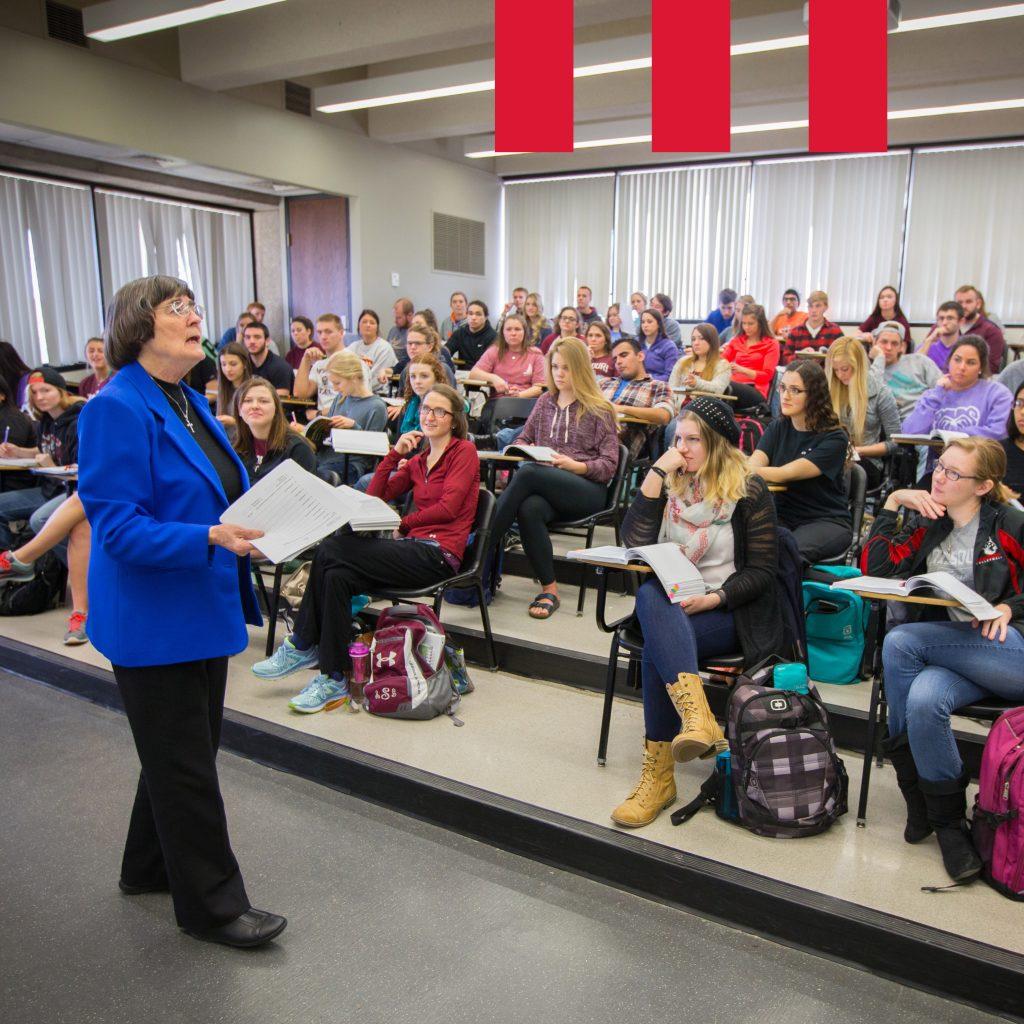 Dr. Pauline Nugent teaches students