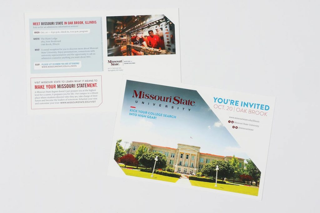 admission postcard