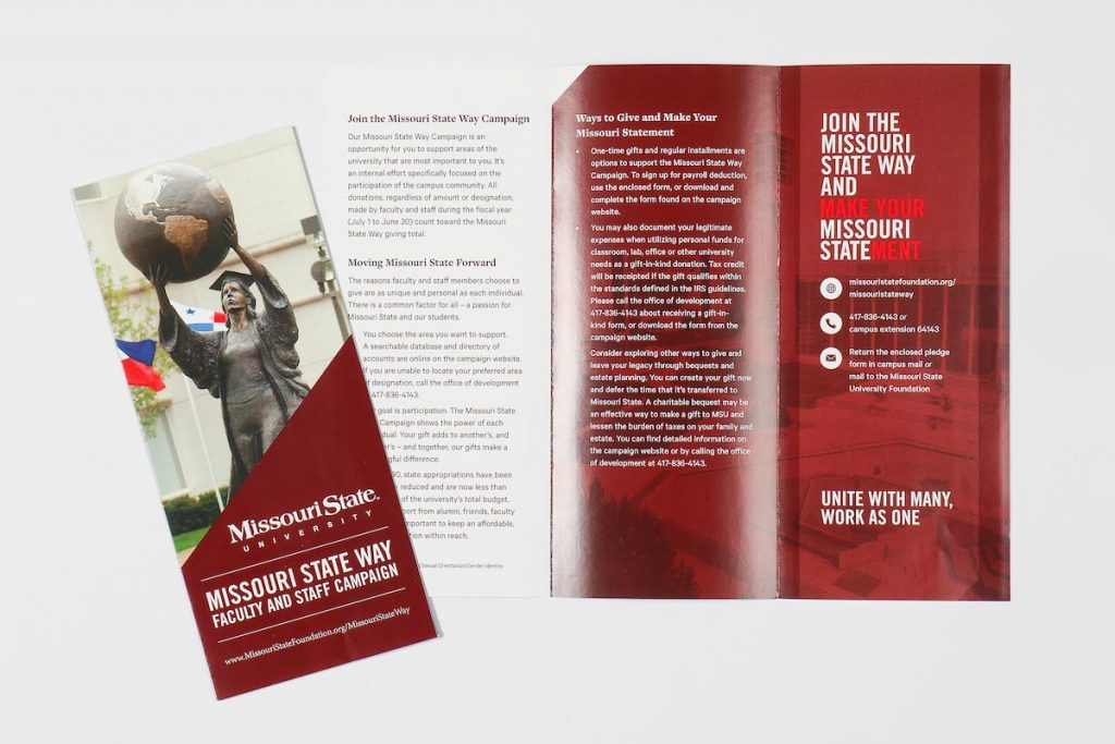 The Missouri State Way campaign is targeted at faculty, staff and students each fall.
