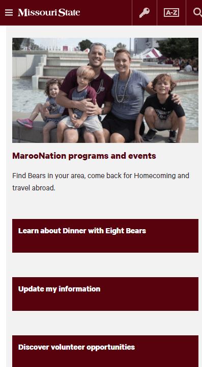 new mobile friendly alumni site
