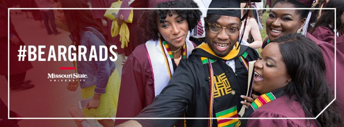 Facebook cover: Graduates taking a selfie