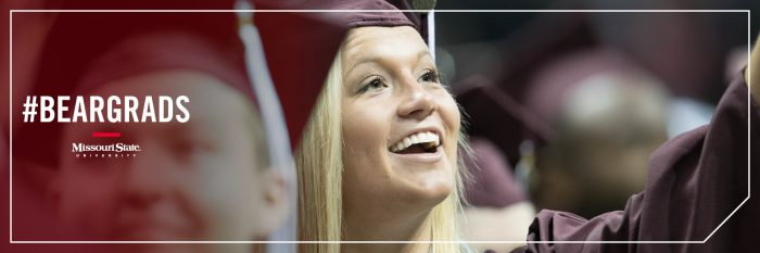 Twitter header: A female graduate smiles at her family