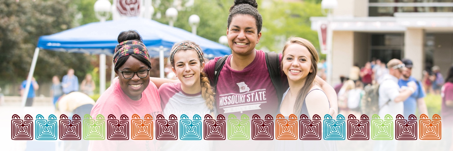 Twitter cover: Smiling students