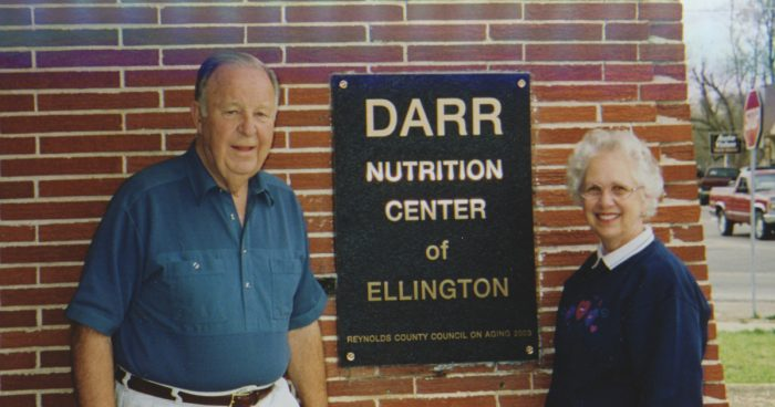 Bill and Virginia Darr a the Darr Nutrition Center of Ellington
